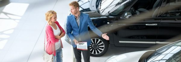 car expert working with a customer